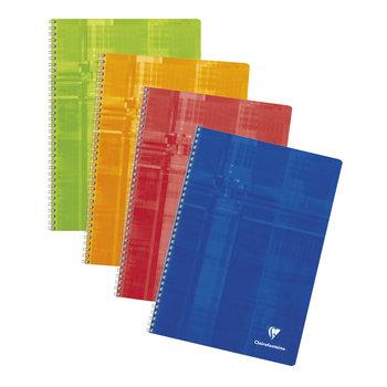 CLAIREFONTAINE Cahier à spirales petits carreaux - 21x29,7 - 100 pages - Coloris aléatoires