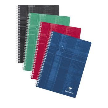 CLAIREFONTAINE Cahier à spirales petits carreaux - 21x29,7 - 180 pages - Coloris aléatoires