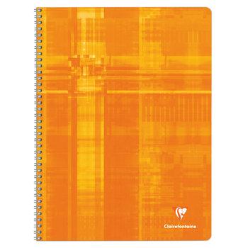 CLAIREFONTAINE Cahier à spirales grands carreaux - 24x32 - 180 pages - Coloris aléatoires