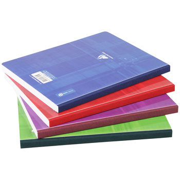 CLAIREFONTAINE Cahier broché grands carreaux - 17x22 - 192 pages - Coloris aléatoires