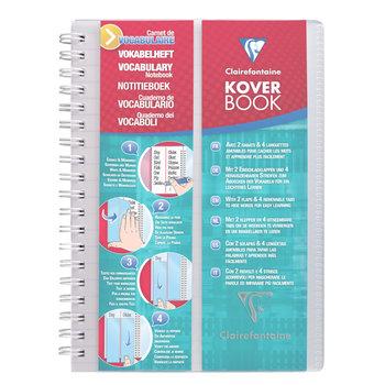 CLAIREFONTAINE Koverbook Carnet vocabulaire reliure intégrale  Ligné + marge centrale polypropylène - 11x17 cm - 100 pages - Incolore