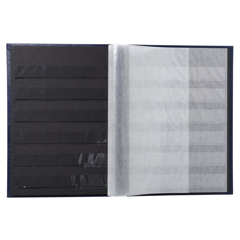 EXACOMPTA Album de timbres simili-cuir - 16,5 x 22,5 cm - 32 pages noires - Noir