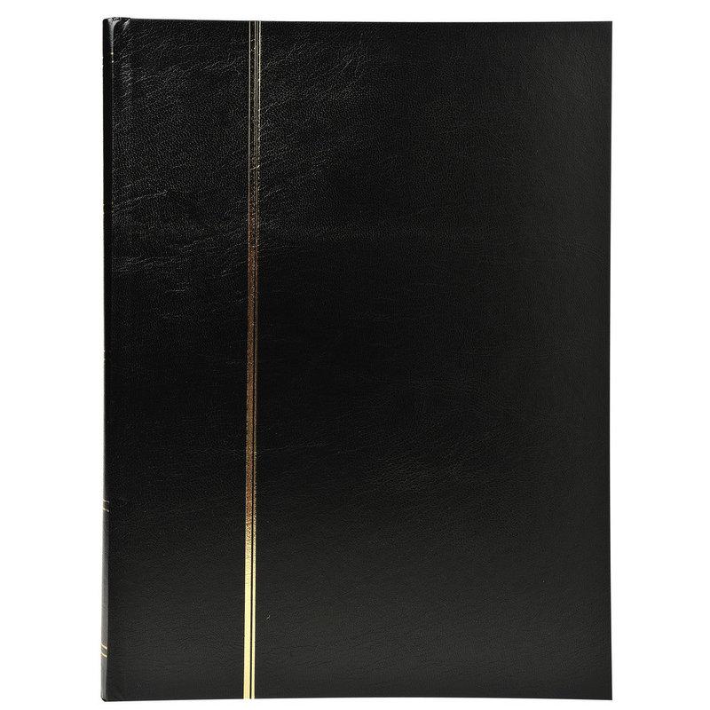 EXACOMPTA Album de timbres simili-cuir - 22,5 x 30,5 cm - 32 pages noires - Noir