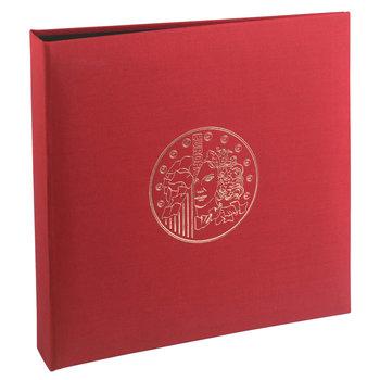 EXACOMPTA Classeur numismatique + 5 feuilles plastique - 24,5x25 cm - Bordeaux