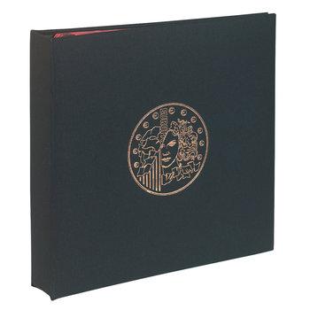 EXACOMPTA Classeur numismatique + 5 feuilles plastique - 24,5x25 cm - Noir