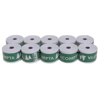 EXACOMPTA Bobine pour tickets de caisse 44x70 mm - 1 pli offset extra-blanc 60g/m2. LOT DE 10