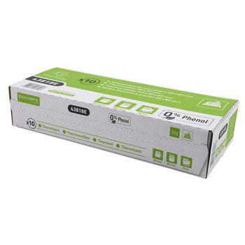 EXACOMPTA Bobine pour tickets de caisse 80x80 mm - 1 pli thermique 55g/m2 sans Phenol - longue conservation. paquet de 10