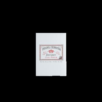 CROWN MILL Bloc correspondance 50 feuilles A5 vergé Blanc 100 g.