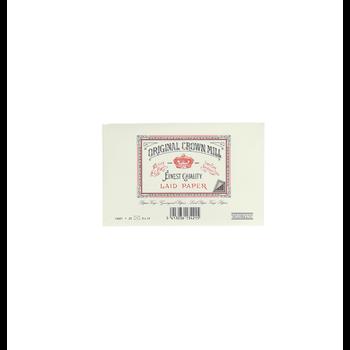 CROWN MILL 25 enveloppes doublées 9x14cm vergé Crème 100 g.
