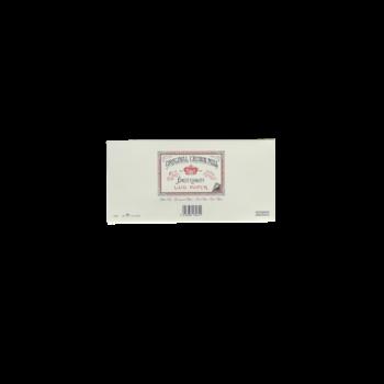 CROWN MILL 25 enveloppes doublées 11x22,5cm vergé Crème 100 g.