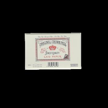 CROWN MILL 15 cartes 8.5x13.5cm /15 enveloppes doublées 9x14cm vergé Crème 280 g.