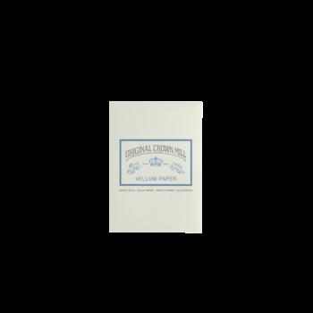 CROWN MILL Bloc correspondance 50 feuilles A5 vélin Crème 100 g.