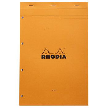 RHODIA Orange Bloc agrafé N°20 21x31,8cm 80f grands carreaux +4tr