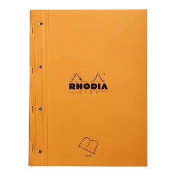 RHODIA Orange Bloc agrafé sur coté A4 80f ligné +4tr