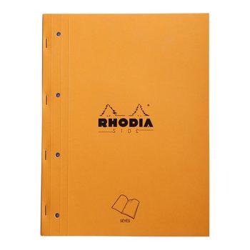 RHODIA Orange Bloc agrafé sur coté A4 80f grands carreaux +4tr