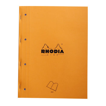 RHODIA Orange Bloc agrafé sur coté A4 80f quadrillé 5/5 +4tr