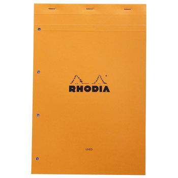 RHODIA Orange Bloc agrafé N°20 21x31,8cm 80f ligné et marge 80g