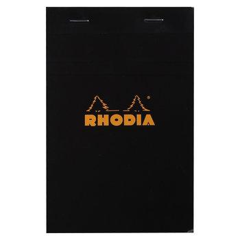 RHODIA Noir bloc agrafé N°14 11x17cm 80f quadrillé 5/5 80g