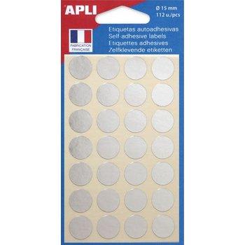 APLI Pastilles argent Ø 15 mm 112 unités