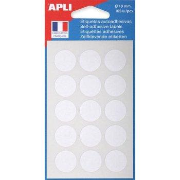 APLI Pastilles blanches Ø 19 mm 105 unités