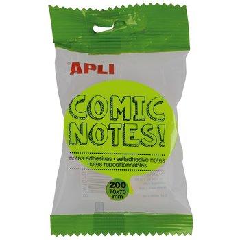 APLI Notes adhésives bulle 70 x 70 mm bloc de 200 feuilles 4 couleurs assorties fluorescentes