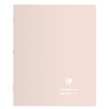 CLAIREFONTAINE Koverbook Blush piqué PP bicolore opaque ligné + marge - 17x22 cm 96 pages - Coloris aléatoires