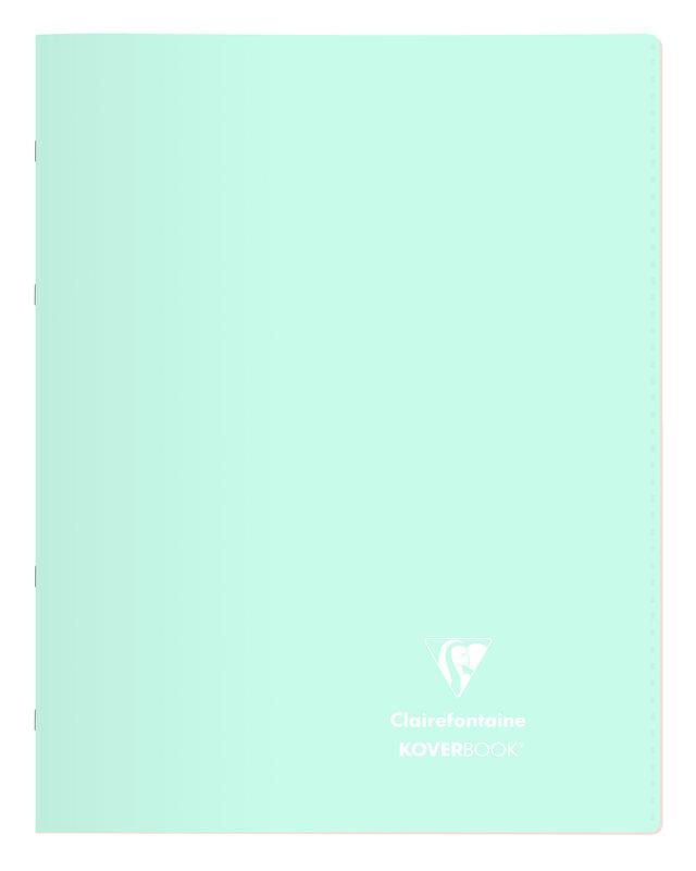 CLAIREFONTAINE Koverbook Blush piqué PP bicolore opaque grands carreaux  - 24x32 cm - 96 pages - Coloris aléatoires