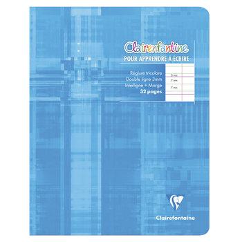 """CLAIREFONTAINE Cahier d'écriture piqué """"Clairenfantine"""" - 17x22cm - 32 pages - DL 3 mm - Coloris aléatoires"""