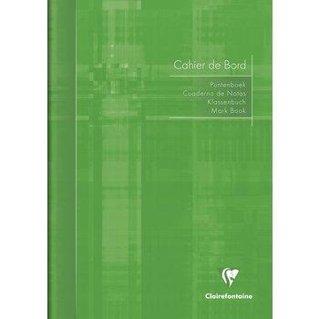 CLAIREFONTAINE Cahier de bord piqué Int'l - 21x29,7cm - 72 pages - Coloris aléatoires