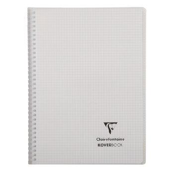 CLAIREFONTAINE KOVERBOOK reliure intégrale enveloppante PP transparent 21x29,7cm 160p Q.5x5 coloris assortis - livré en boîte prêt-à-vendre