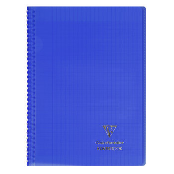 CLAIREFONTAINE Koverbook reliure intégrale polypropylène transparent grands carreaux  - 21x29,7cm - 160 pages -  Coloris aléatoires