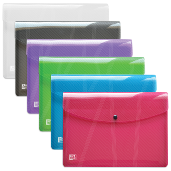 OXFORD Chemise Pochette Hawai A4 - Polypro - Couleurs assorties