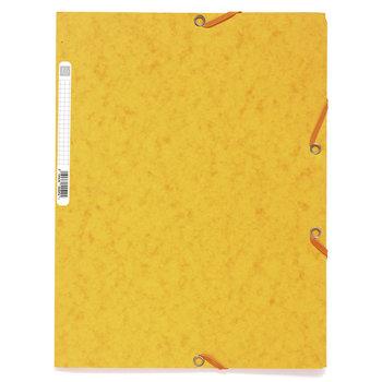 EXACOMPTA Chemise 3 rabats à élastiques carte lustrée 400g/m2 - A4 -  jaune