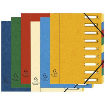 EXACOMPTA Trieur HARMONIKA® à fenêtres avec élastiques Nature Future carte lustrée 9 compartiments - Couleurs aléatoires