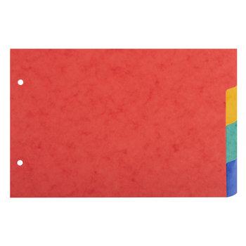 EXACOMPTA Intercalaires pour fiches bristol carte lustrée 225g/m2 4 positions - A5 148x210mm