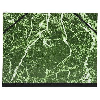 EXACOMPTA Carton à dessin papier marbré verni avec élastiques 28x38 cm - Pour format B4 - Vert