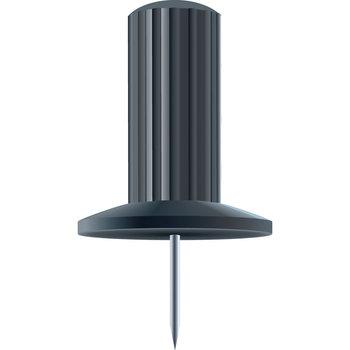 EXACOMPTA Boîte de 25 épingles Papic - Hauteur de pointe 7mm - 10mm de diamètre - Noir