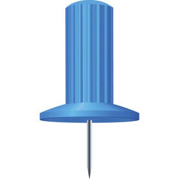 EXACOMPTA Boîte de 25 épingles Papic - Hauteur de pointe 7mm - 10mm de diamètre - Bleu clair