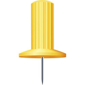 EXACOMPTA Boîte de 25 épingles Papic - Hauteur de pointe 7mm - 10mm de diamètre - Jaune