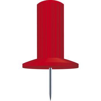EXACOMPTA Boîte de 25 épingles Papic - Hauteur de pointe 7mm - 10mm de diamètre - Rouge