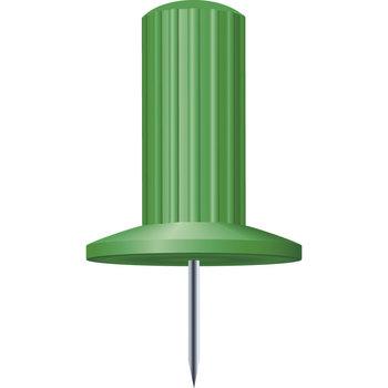 EXACOMPTA Boîte de 25 épingles Papic - Hauteur de pointe 7mm - 10mm de diamètre - Vert