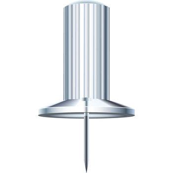 EXACOMPTA Boîte de 25 épingles Papic - Hauteur de pointe 7mm - 10mm de diamètre - Cristal translucide