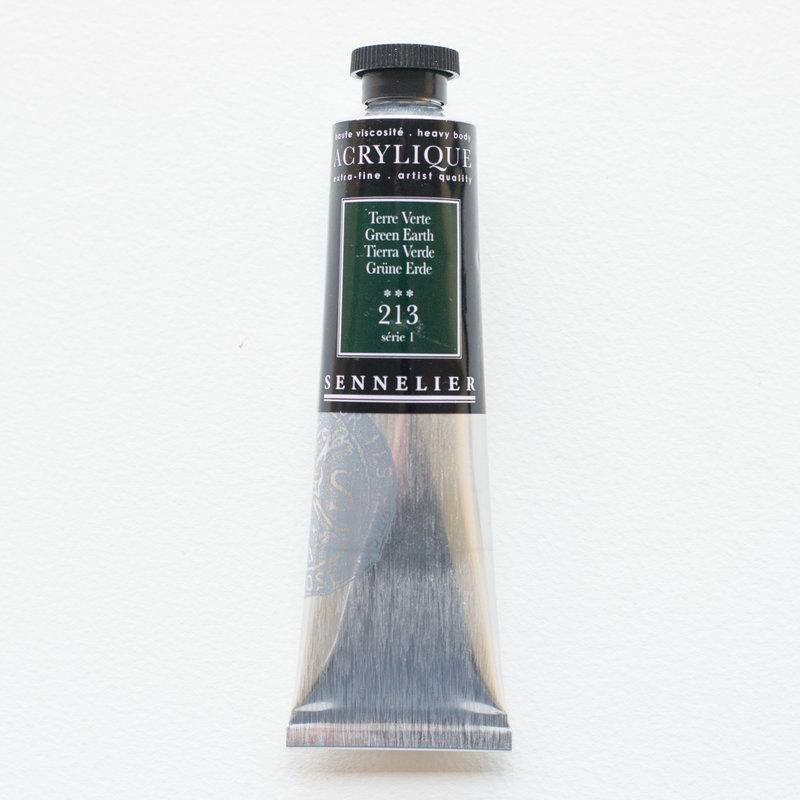 SENNELIER Acrylique Extra fine Tube 60ml Terre Verte S1