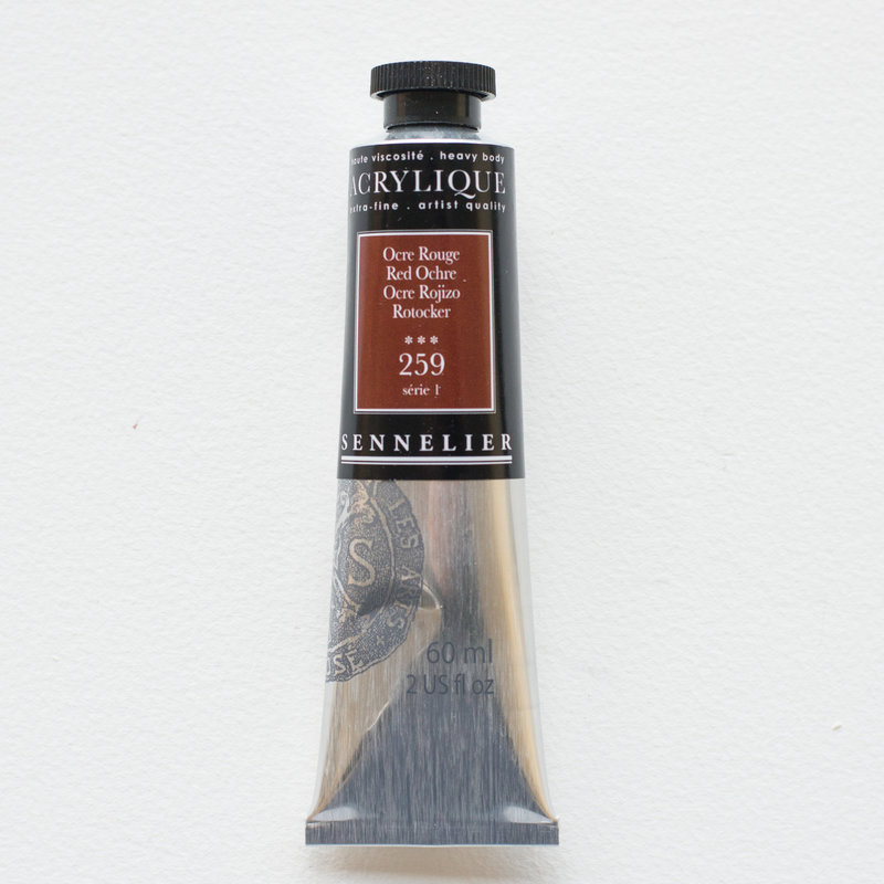 SENNELIER Acrylique Extra fine Tube 60ml Ocre Rouge S1