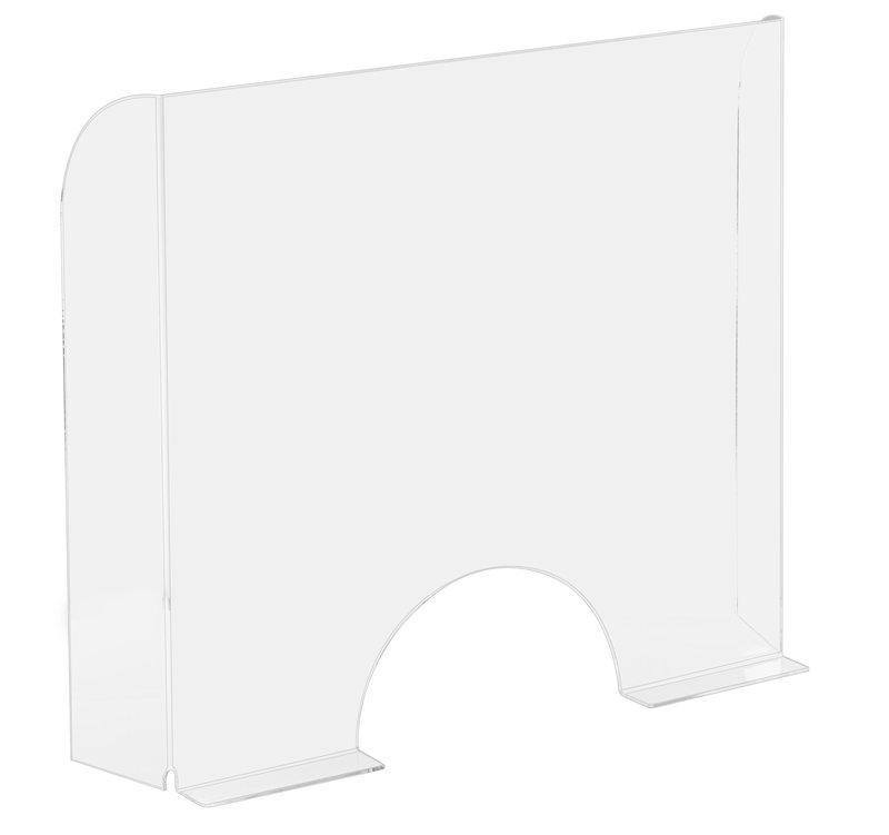 EXACOMPTA ExaScreen Pare-haleine ou hygiaphone de comptoir (à poser) 95x68cm - Cristal