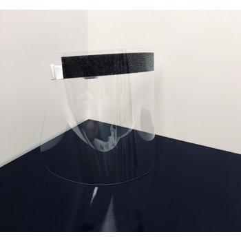 EXACOMPTA Visière individuelle de protection ExaScreen en polycarbonate 31,5 x 19 ,5cm - Cristal