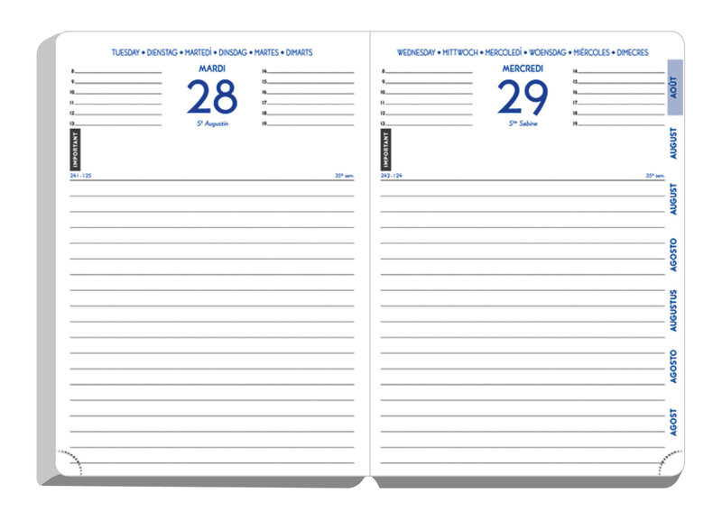 EXACOMPTA Agenda Scolaire 1 jour par page Forum Kraft 170x120 modéles aléatoires