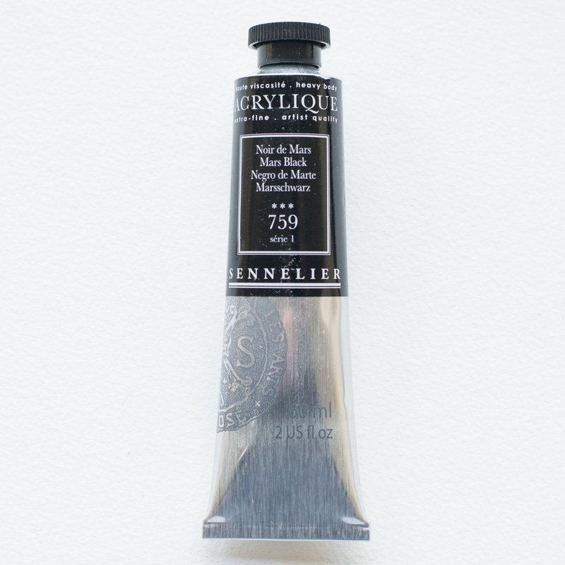 SENNELIER Acrylique Extra fine Tube 60ml Noir de Mars S1