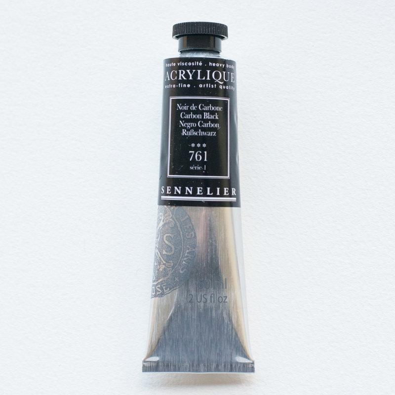 SENNELIER Acrylique Extra fine Tube 60ml Noir de Carbone S1