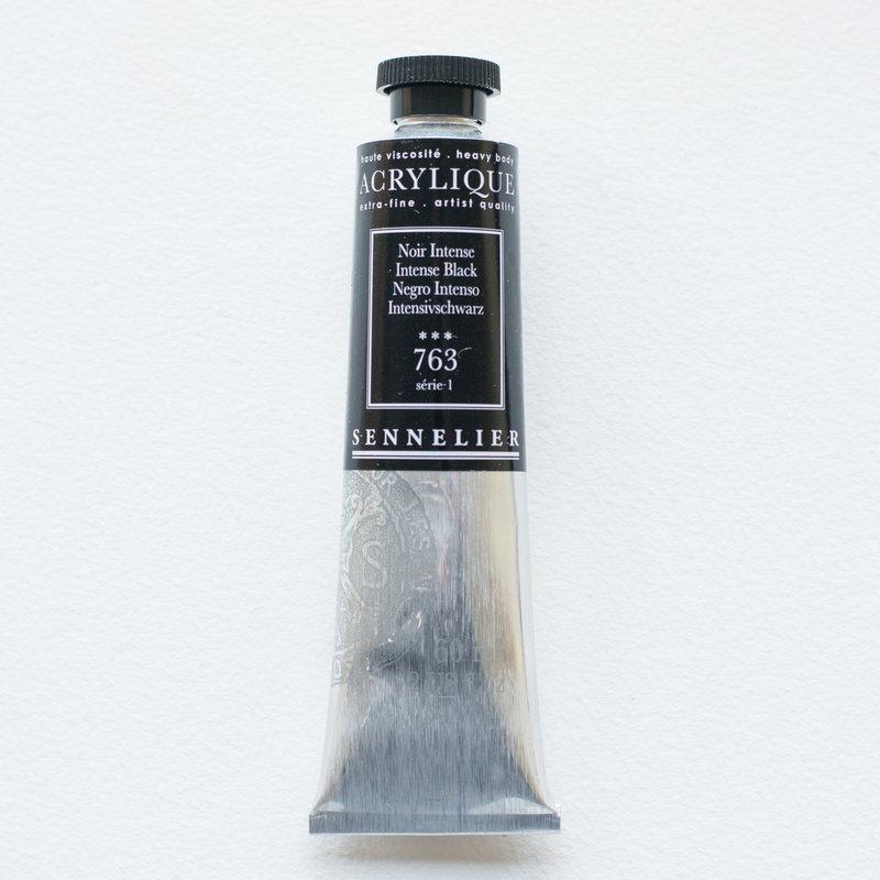 SENNELIER Acrylique Extra fine Tube 60ml Noir Intense S1